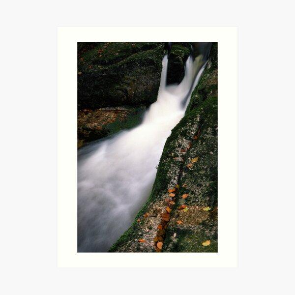 Waterfall on Jedlova brook Art Print