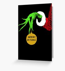 The Grinch Christmas Card Greeting Card