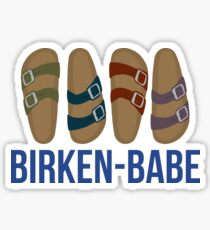 Birken-Babe 4 Lyfe Sticker