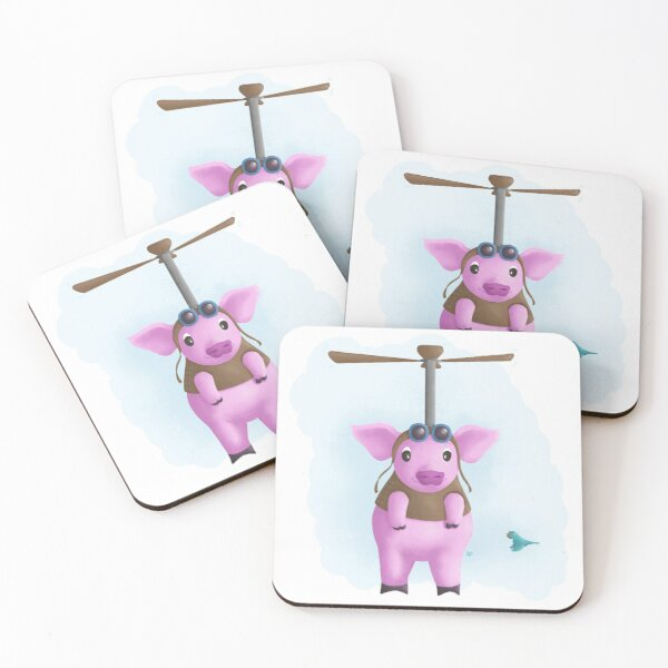 When Pigs Fly Coasters (Set of 4)