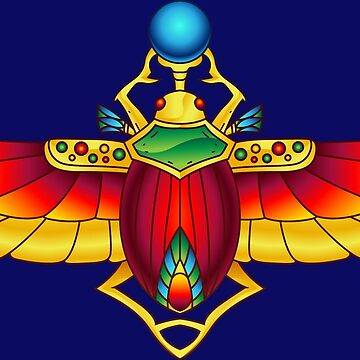 Sacred Symbols - Egyptian Scarab Red Wings by Skullz23
