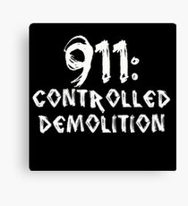 911: Controlled Demolition Canvas Print