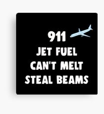 911 Jet Fuel Can't Melt Steal Beams Canvas Print