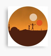 Look Morty! Star Wars Land Canvas Print