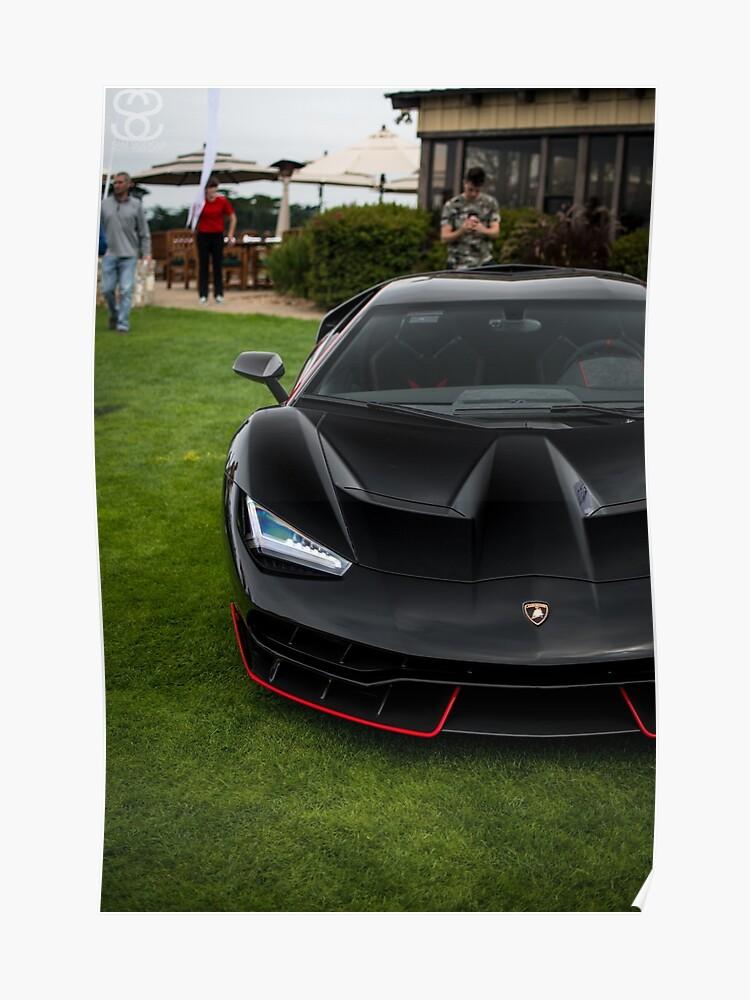 Black And Red Lamborghini Centenario Poster By Samsiddiqui Redbubble
