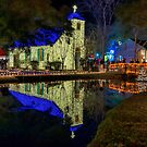 Acadian Village at Christmas Time by Bonnie T.  Barry