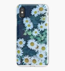 Painted White Daisies Pattern iPhone Case/Skin