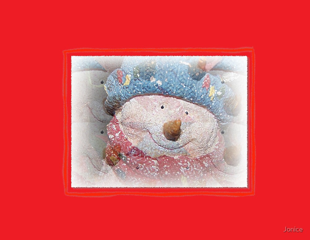 Snowman Christmas Card by Jonice