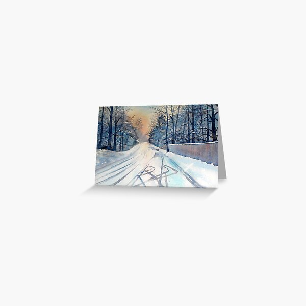 Layby in the Snow Greeting Card