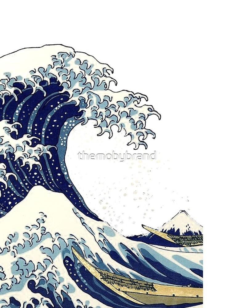 The Great Wave off Kanagawa by Hokusai by themobybrand