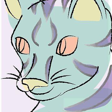 Pastel Cat by hayleyeener