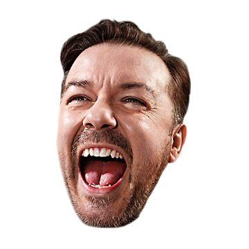 Ricky Gervais' Head by pilky01