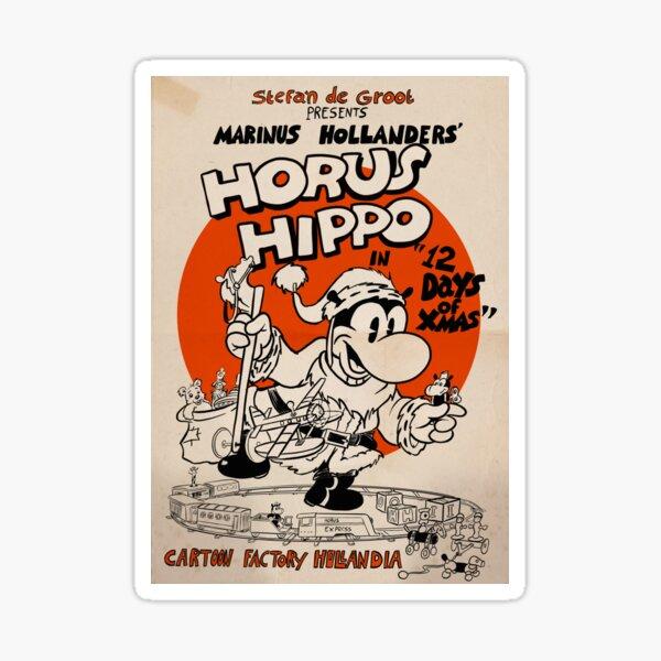 Horus Hippo - 12 Days of Xmas Sticker