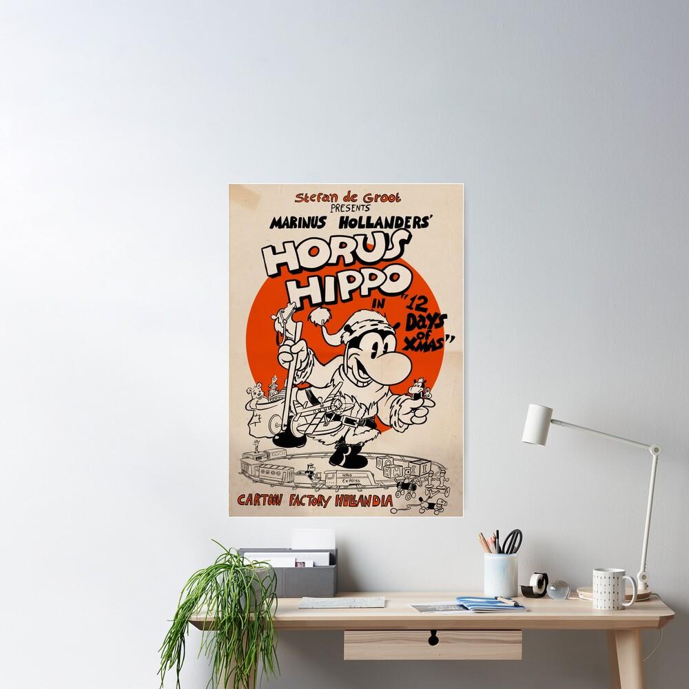 Horus Hippo - 12 Days of Xmas Poster