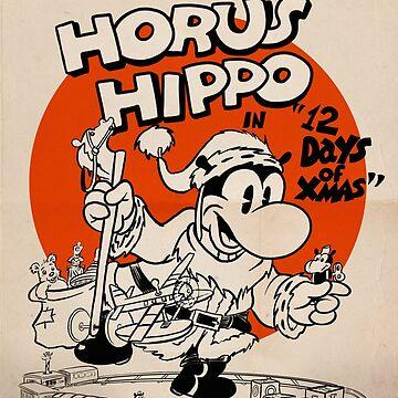 Horus Hippo - 12 Days of Xmas by Stayf
