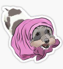 Mushu in a towel Sticker