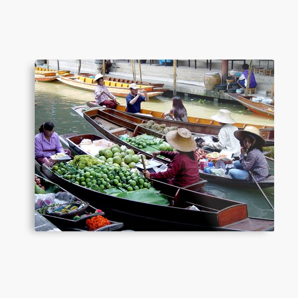 Floating Market Metal Print