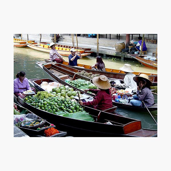 Floating Market Photographic Print