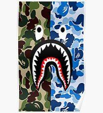 Bathing Ape Blue Shark Poster