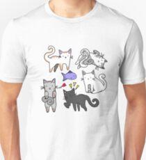 Cute kawaii japanese cartoon cats  Unisex T-Shirt