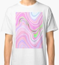 Pastel Pink & Violet Lava Marble Classic T-Shirt