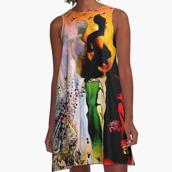 VENUS DE MILO : Vintage Dali Abstract Surreal Print A-Line Dress