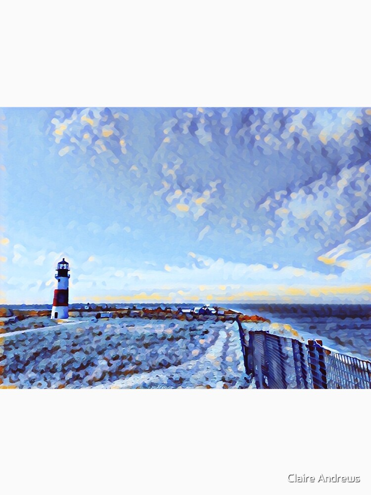 Painted Lighthouse in Sconset on Nantucket by Claireandrewss