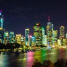Brisbane Night Time Panorama by Keith G. Hawley