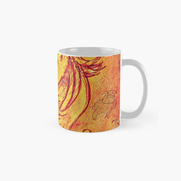 Flame The Unicorn Watching The Spirit Cows Passing Through Her Fire Classic Mug