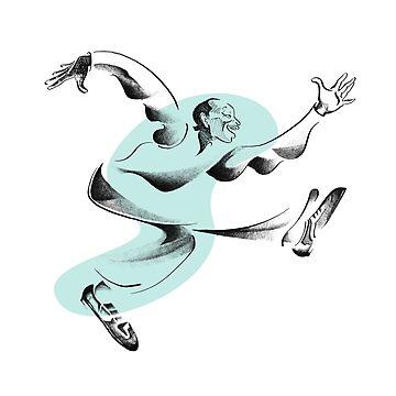 Lindy Hop Pioneer, Frankie Manning by ryancallowayart