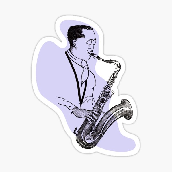 "Jazz Giant, Lester ""Prez"" Young Sticker"