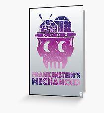 Frankenstein's Mechanoid - 80s Grunge Greeting Card