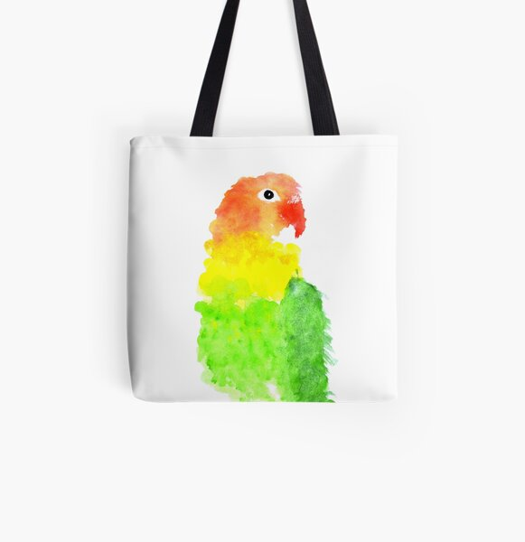 Who's A Pretty Birdy? All Over Print Tote Bag