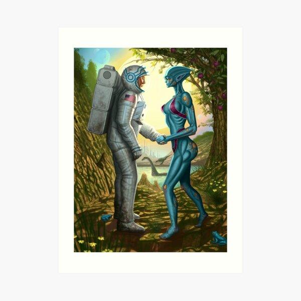 Alien Contact Art Print