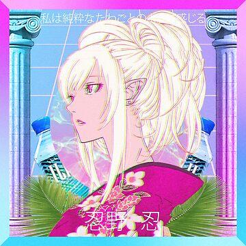 Kawaii Pink Anime Vaporwave Waifu Tee by KiyomiShop
