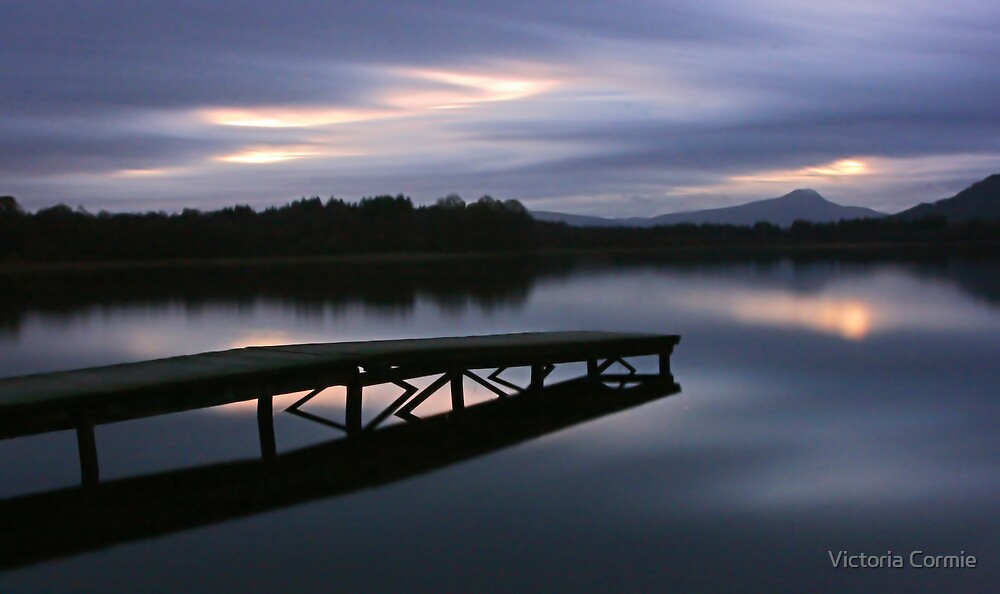 After Sunset at the Lake of Menteith by Victoria Cormie