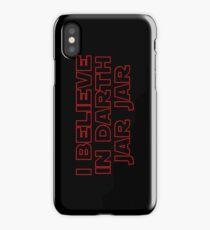 Darth Jar Jar (red, outline) iPhone Case