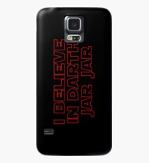 Darth Jar Jar (red, outline) Case/Skin for Samsung Galaxy