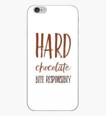 Hard Chocolate Bite Responsibly iPhone Case