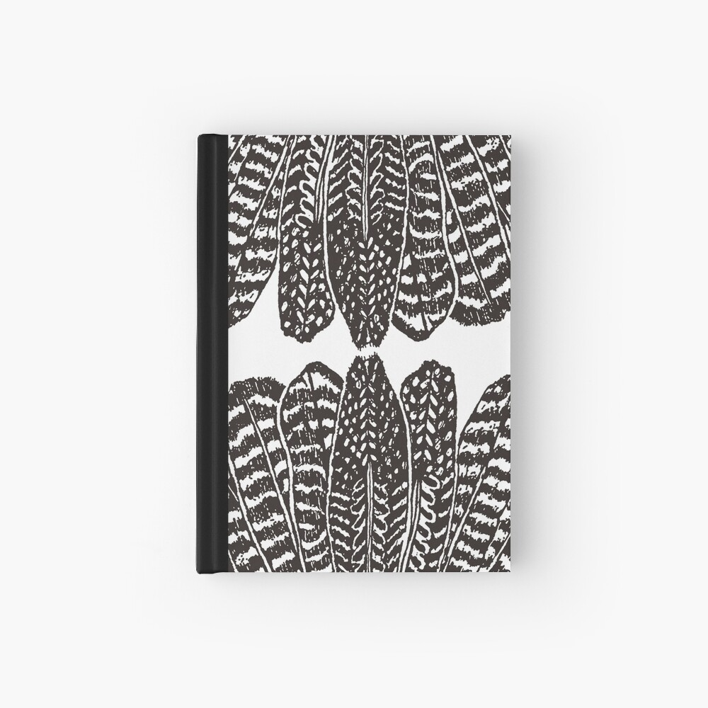 Tribal Feathers Black Hardcover Journal