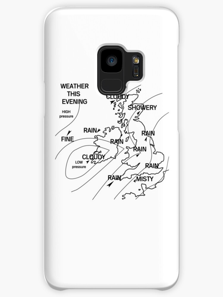 Uk Weather Map Cases Skins For Samsung Galaxy By Dumb Shirts