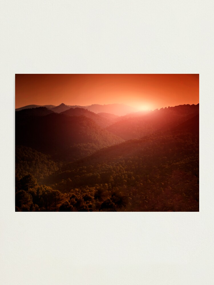 Alternate view of evening Photographic Print