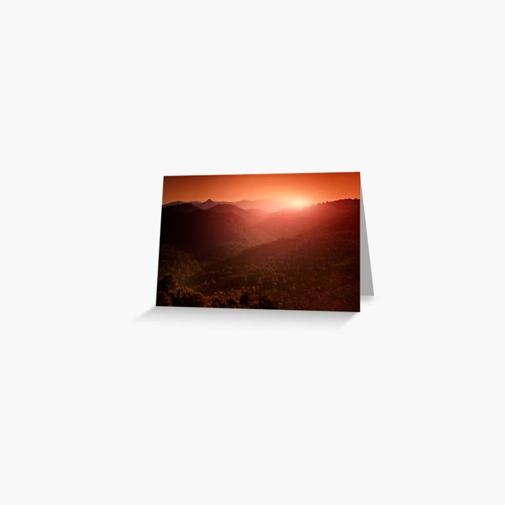 evening Greeting Card