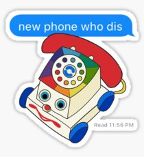 New Phone Who Dis Sticker
