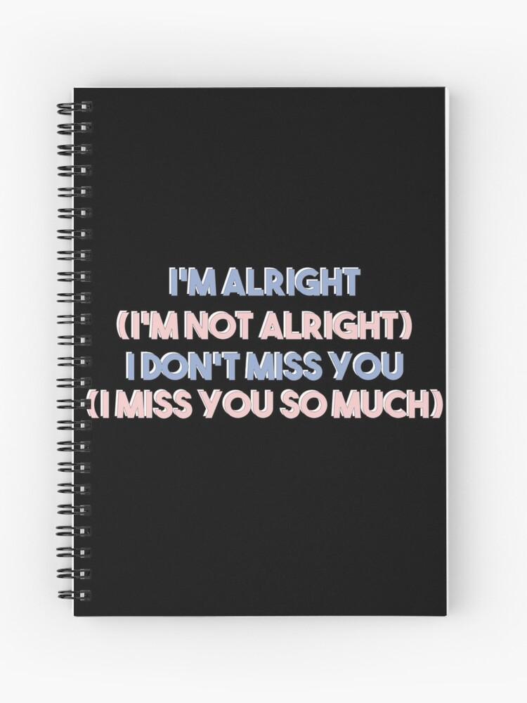 SEVENTEEN - Don't Wanna Cry Lyrics | Spiral Notebook