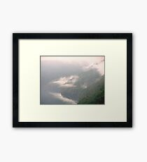 Hanging Clouds Framed Print