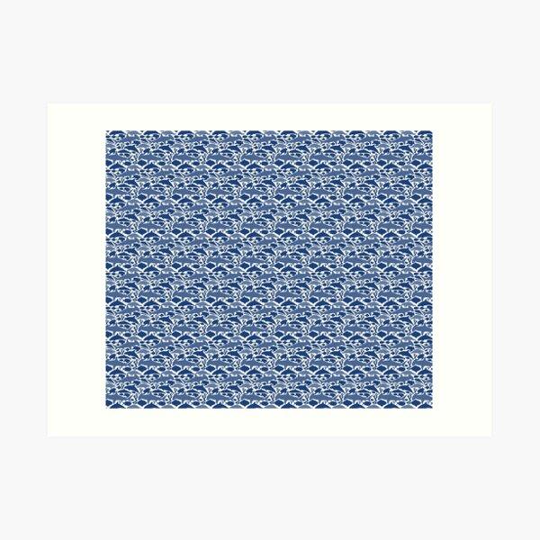 Sea animals pattern Art Print