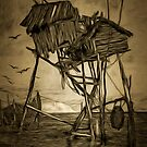 The Fishing Station on the Black Sea 1910 by Dennis Melling