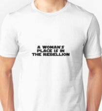 Rebellious Women (black, bold) Unisex T-Shirt
