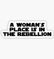 Rebellious Women (black, bold) Sticker